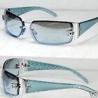 New DG Womens Fashion Designer Sunglasses Shades Silver Blue Wrap Oval Around 24