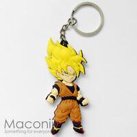 Super Saiyan Goku Keyring - Dragon Ball Z GT Anime Manga Phone Charm Strap