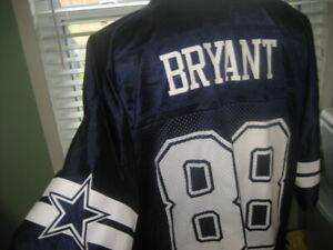 NFL DALLAS COWBOYS WR DEZ BRYANT # 88 BLUE JERSEY sz LARGE