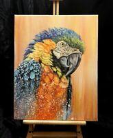 Peinture a l`huile sur toile, surréaliste, animaux, année 2020 format 40/50 cm