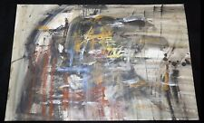 '61 California Mixed Media Abstract Painting by William Hesthal (1908-1985)(Mod)