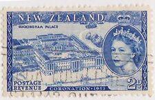 (NZK617) 1953 NZ 2d QEII Coronation palace (G)