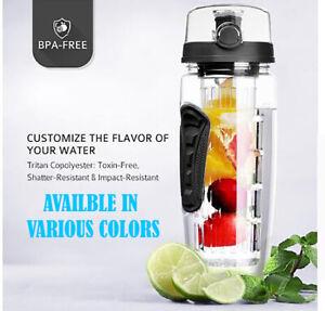 1L Fruit Infuser Water Bottle Infusion Detox Drink Lemon Tea Cup Juice Infusing