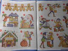 Stickvorlagen,Point de Croix,Joan Elliott,Weihnachten,36 Motive,Santas Werkstatt