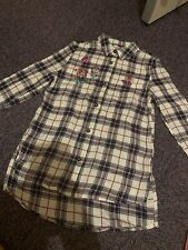 Girls Shirt Dress With Flowers On 4-5 Years