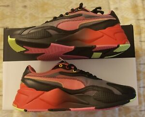 Puma RS-X3 Sonic Black-High Risk Red Running Shoes 374313-01 Size 8.5 Men