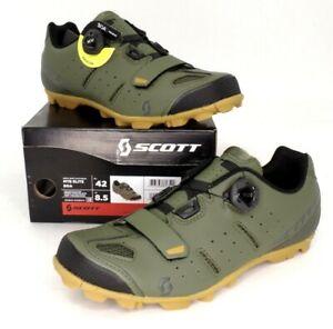 Scott MTB Elite Boa Mountain Bike Shoes Moss Green Men's Size 8.5 US / 42 EU