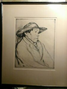 WILLIAM AUERBACH-LEVY - RARE - SIGNED ETCHING - BRITTANY PEASANT