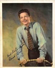 Autographed Tinted Photograph Signed and Inscribed by Donald O'Connor~109015