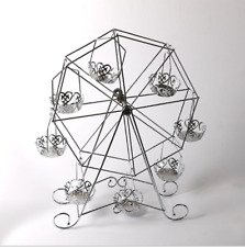8 Cup Ferris Wheel Cake Rack Cupcake Stand Silver Holder for Wedding Birthday