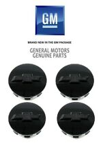 OEM NEW Wheel Center Caps Set of 4 Gloss Black w/Bowtie 15-18 Chevrolet 23480948