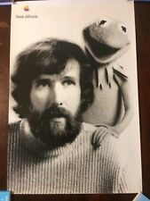 """Apple Computer Think Different Poster -  Jim Henson & Kermit The Frog 24""""X36"""""""