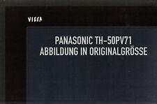"Poster Fernseher Panasonic Viera TH-50PV71 Großes Poster in Originalgrösse 50"""