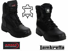 MENS ARMY COMBAT SAFETY WORK MILITARY STEEL TOE CAP WATERPROOF BLACK BOOTS 7-12