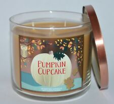 BATH & BODY WORKS PUMPKIN CUPCAKE SCENTED CANDLE 3 WICK 14.5OZ LARGE BUTTERCREAM
