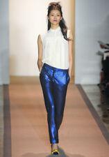 PETER SOM Blue Sequin Embellished Pants 38 2 4