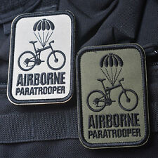 2 PC Airborne Paratrooper Bike MORALE BADGE US TACTICAL MILITARY 3D PATCH