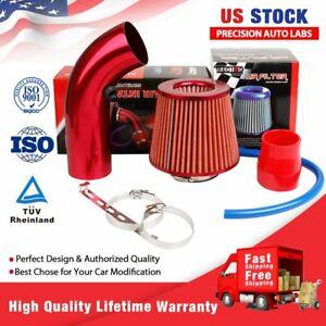 "Car Air Intake Kit Pipe Diameter 3""+Cold Air Intake Filter+Clamp+Accessories Red"