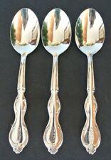 Set of 3 Victor S. Co. Silverplate Teaspoons ~ 1946 Rochelle Pattern