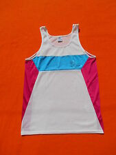 REEBOK Maillot Jersey Tank Top T Shirt Vintage 90s Made in UK Athletic Running