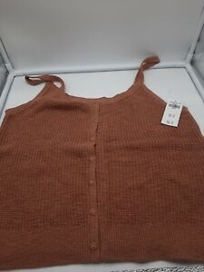 Abercrombie & Fitch~Cropped Button Front Tube Top~ small