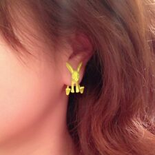 3D Ohrringe Hase Ohrstecker Ohrschmuck Bunny Earring Ear Cuff Ohrklemme Animal