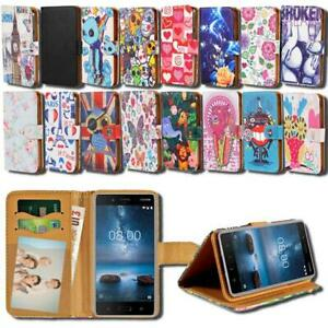 For Various Nokia Asha SmartPhones - Leather Smart Stand Wallet Cover Case