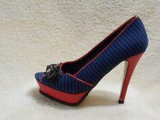 Iron Fist Femmes Talons Chaussures Bleu-Bleu Marine/Rouge/Noir UK 5 EU 38 US 7