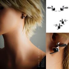 BOUCLES d'oreilles Fée ARGENT et ONYX neuf - 1386307
