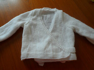 """Hand knitted girls ballet top 20 - 30"""" choice of colours"""