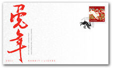 Canada 2011 Year of the Rabbit Official FDC