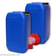 2x 15 L Wasserkanister mit AFT-Hahn DIN61 Trinkwasser Behälter (2x22246+1x22010)
