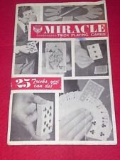 MIRACLE TRICK PLAYING CARDS - 25 TRICKS - 16pp