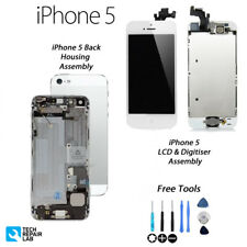 Nouveau Complet LCD Assembly + Back Cover Housing Replacement for iPhone 5-Blanc