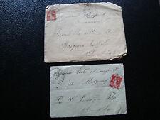 FRANCE - 2 enveloppes 1913 1916 (cy55) french
