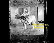 THEDA BARA 8x10 Lab Photo SILENT  Horse Riding Beauty Movie Still Portrait 1910s