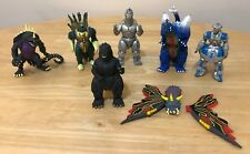 Lot of 7 Vintage Godzilla Action Figures - 1994, 1995 Toho Trendmasters