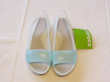 Crocs Colorblock Flat seafoam pearl white standard fit Womens W 10 200032-476