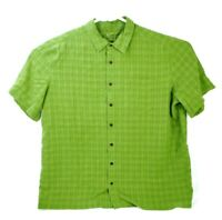 5.11 Tactical Mens S/S Button UP Shirt Men's Size XL Checkered Concealed Green