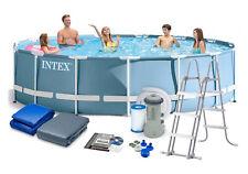 Intex 26720GN Frame Pool Komplettset mit Filter Leiter und Abdeckung 427 x 107