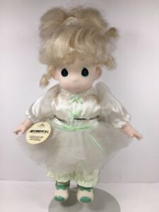 Precious Moments Doll Vintage Blonde Tonya with Stand 12 inch 1994 Plastic