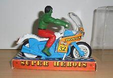 Vintage Figure HULK GULLIVER BRAZIL Super Heroes Honda MOTOCYCLE MARVEL BOXED