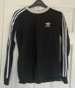 Adidas women's black long sleeve top UK size 8 new without tags