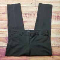 Express Editor Dress Pants Womens Size 12 Regular Solid Black High Rise Waist