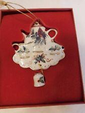 Lenox Winter Greetings Cardinal Tea Set Christmas Ornament Holly Berries