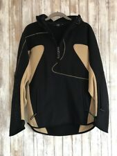 ROSSIGNOL Pullover 1/2 Zip Black Beige Jacket Sweater * M Medium RARE!