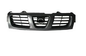 *NEW* FRONT RADIATOR TOP GRILLE for NISSAN NAVARA D22 2000 - 2001 *SILVER GREY*