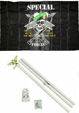 3x5 Special Forces Mess With The Best #2 Flag w/ 6' Ft White Flagpole Kit