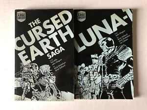 Judge Dredd Cursed Earth Saga+Luna-1 Paperback TPB/Graphic Novel Lot 2000 AD