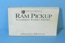 95 1995 Dodge Ram Pickup Cummins Turbo Diesel owners manual